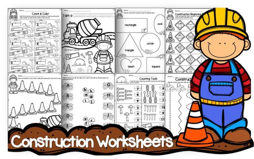 construction preschool worksheets