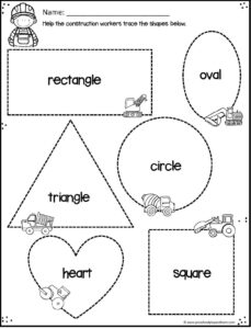 Help kids practice making shapes with a truck theme
