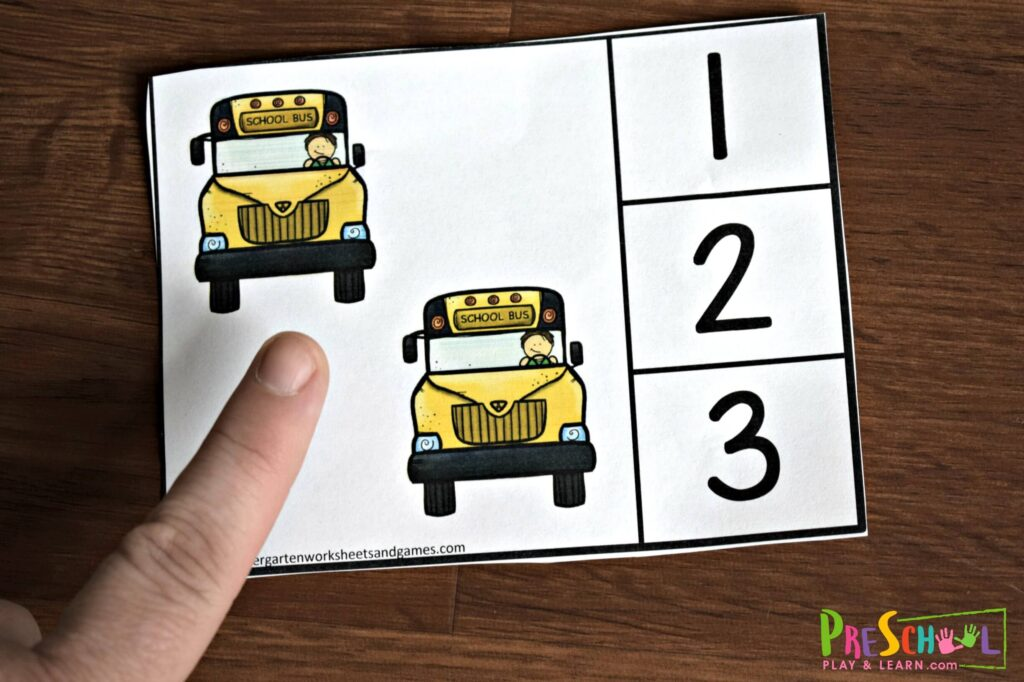 back to school counting activity for prek