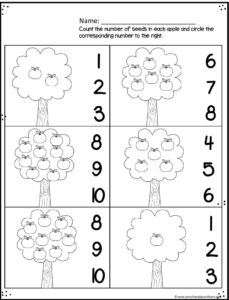 Apple Worksheets for Preschoolers — Preschool Play and Learn
