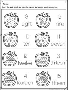 Kids will have fun practicing counting to 20 with these count, color, and trace worksheets