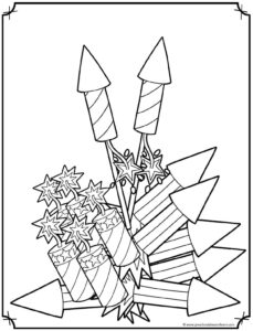 4th of July Coloring Pages — Preschool Play and Learn