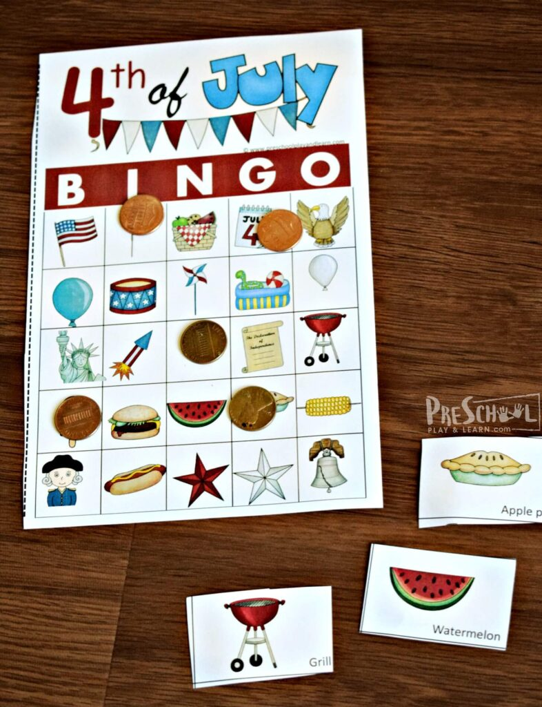Fourth of July Games for preschoolers