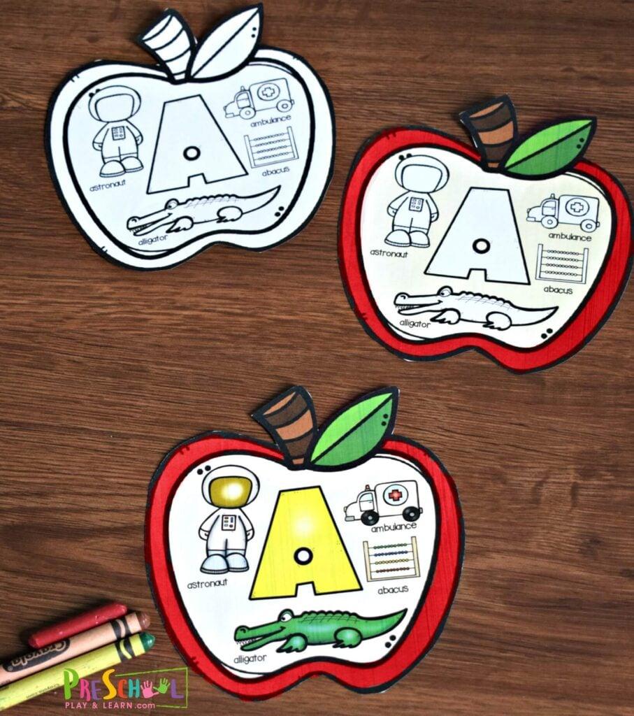 Alphabet Sounds Apple Book — Preschool Play and Learn