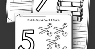 FREE Back to School Number Worksheets - kids will have fun counting and tracing numbers 1-10 with these preschool and kindergarten worksheets perfect for the first day of school #tracingnumbers #backtoschool