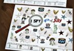 FREE I Spy Fourth of July - this is such a fun 4th of July game to help preschool and kindergarten age kids practice visual discrimination #preschool #kindergarten #4thofjuly