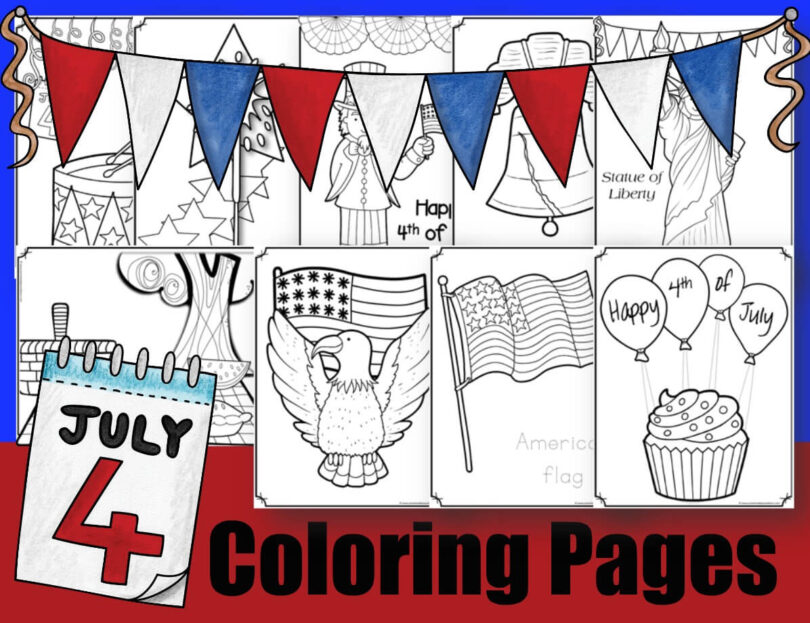 July 4 Coloring Pages