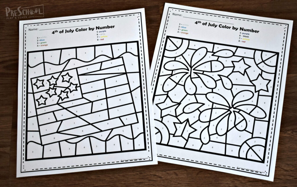 free printable patriotic coloring pages perfect for toddlers, preschoolers, and kindergartners for 4th of july