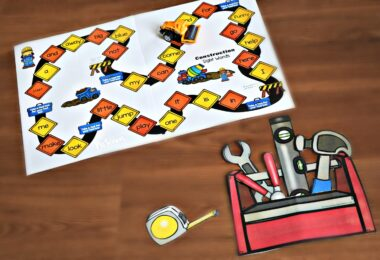 Super cute and FREE sight words printable for construction theme