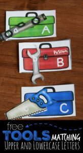 tools matcing upper and lowercase letters