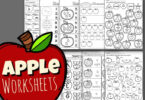 apple worksheets horizontal