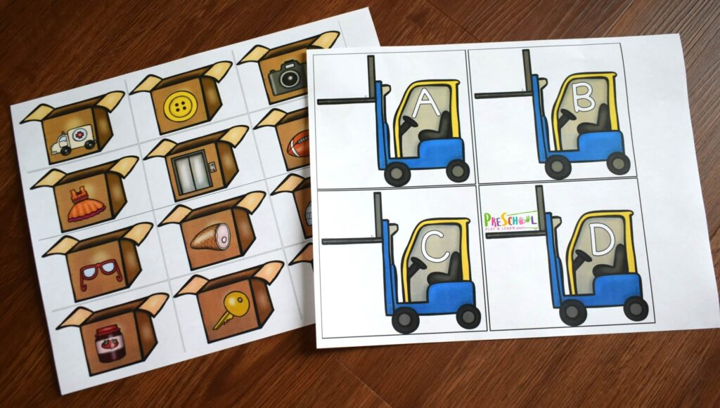 Fun and free truck printables to practice phonics and beginning sounds