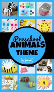 Animal Preschool Theme - So many fun, creative and unique crafts, printables, math, and literacy activities to help preschoolers learn with an animal theme #preschool #themes #preschool