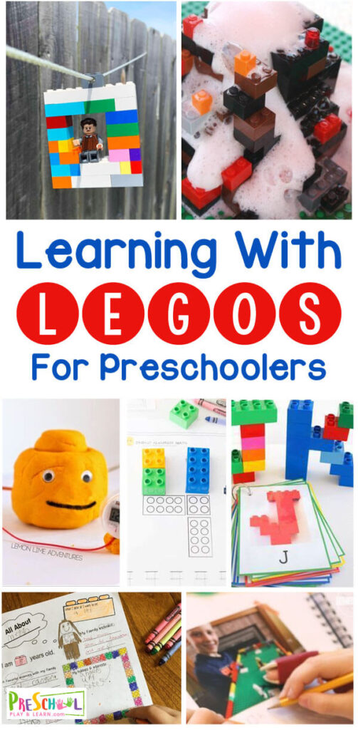 Make learning math, literacy and STEM fun with these creative Learning With LEGO ideas for preschoolers, toddlers, kindergartners, and more! These lego preschool ideas include STEM, science experiments, , numbers, journaling, , sorting colors, learning shapes, and so many more early learning skills.
