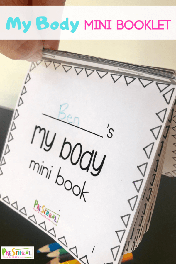 FREE My Body Mini Book - preschoolers will have fun learning about the parts of their body with this simple flip book for prek / kindergarten #preschool #humanbody