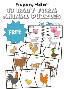 FREE Baby Farm Animal Puzzles