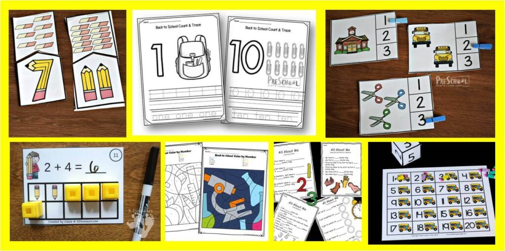 Make practicing math fun with these back to school math games