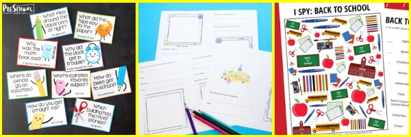 Lots of super cute, FREE back to school printables for preschoolers