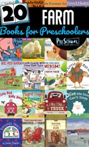 20 Farm Books for Preschoolers - kids will love learning about life on the farm with these great farm books for kids #booklist #farms #preschool