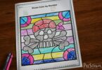 FREE Color by number worksheets for preschoolers and kindergartners