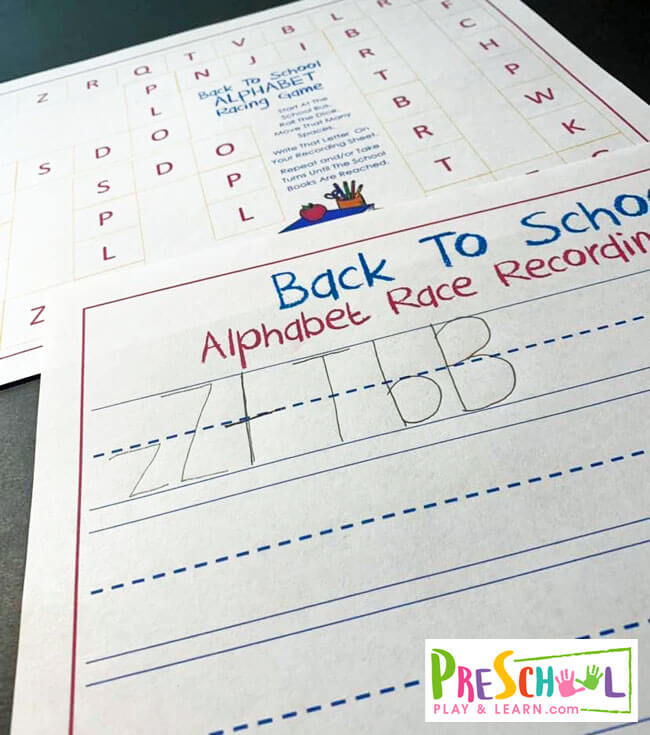 fun idea for learning the alphabet through play