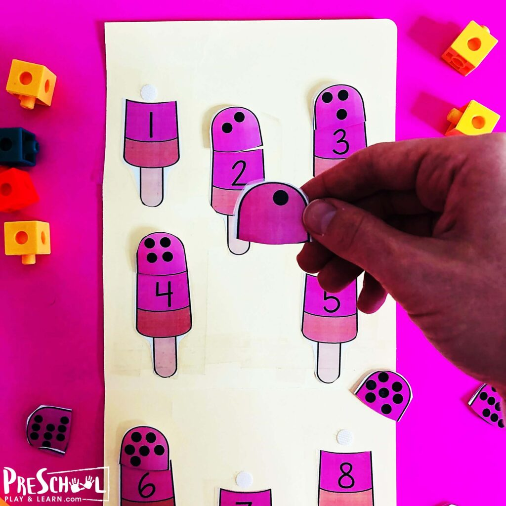 Super cute preschool math puzzles for kids to practice counting to 10