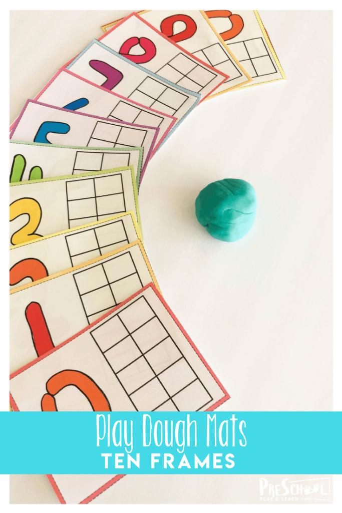 Super cute free printable play dough mats are a fun math activities for preschoolers