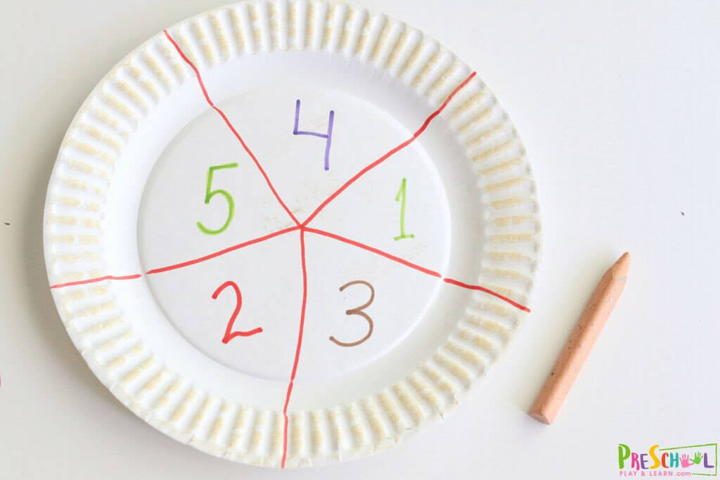 preschool counting activity with a fun pizza theme