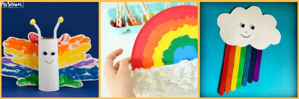 Tons of cute rainbow crafts