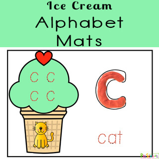 Practice tracing letters with summer learning alphabet printable