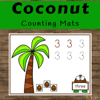 Practice tracing numbers on these math worksheets for kids