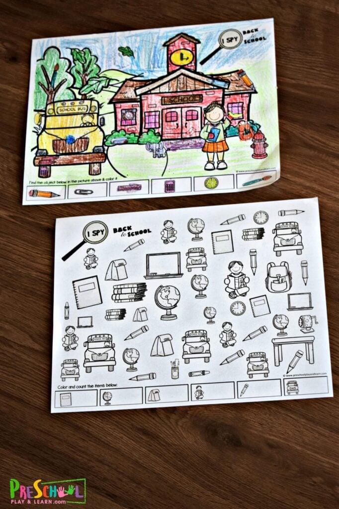 Super cute FREE Back to School Printables for preschool, prek, and kindergarten age kids