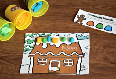 Christmas Activity for Preschoolers during the month of December for a Christmas theme