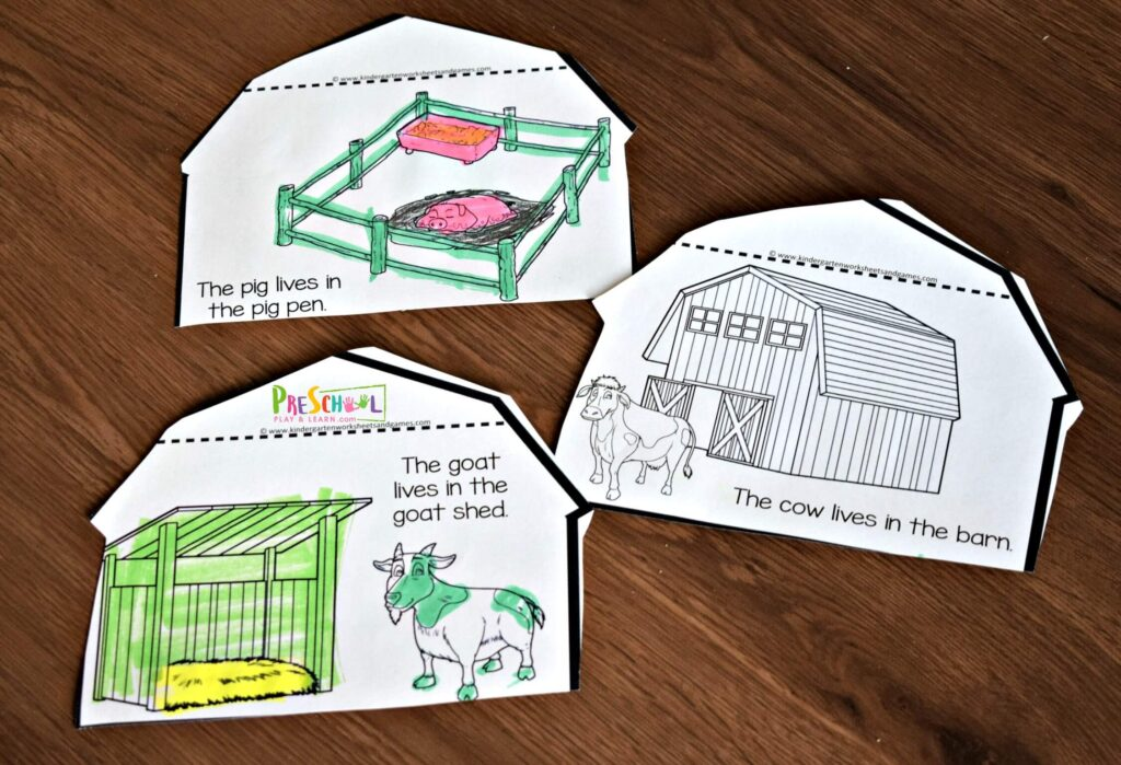 Farm Activities for preschoolers, kindergartners and first graders