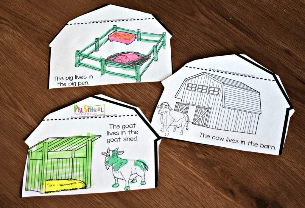 Farm Activities for preschoolers, kindergartners and first graders