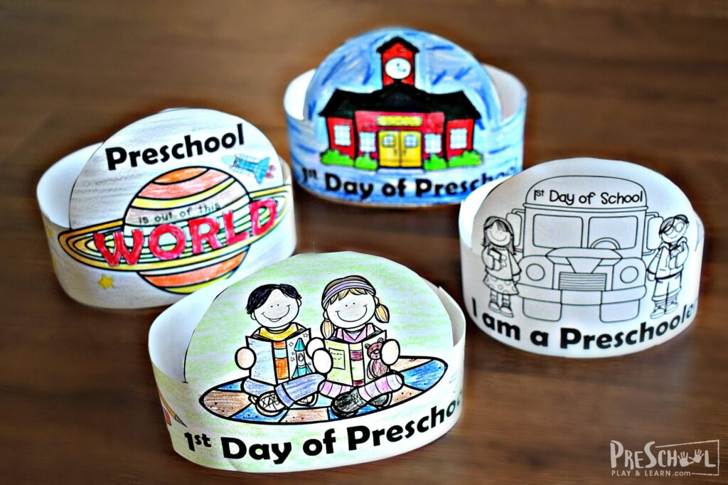 First Day of School Printables for preschoolers