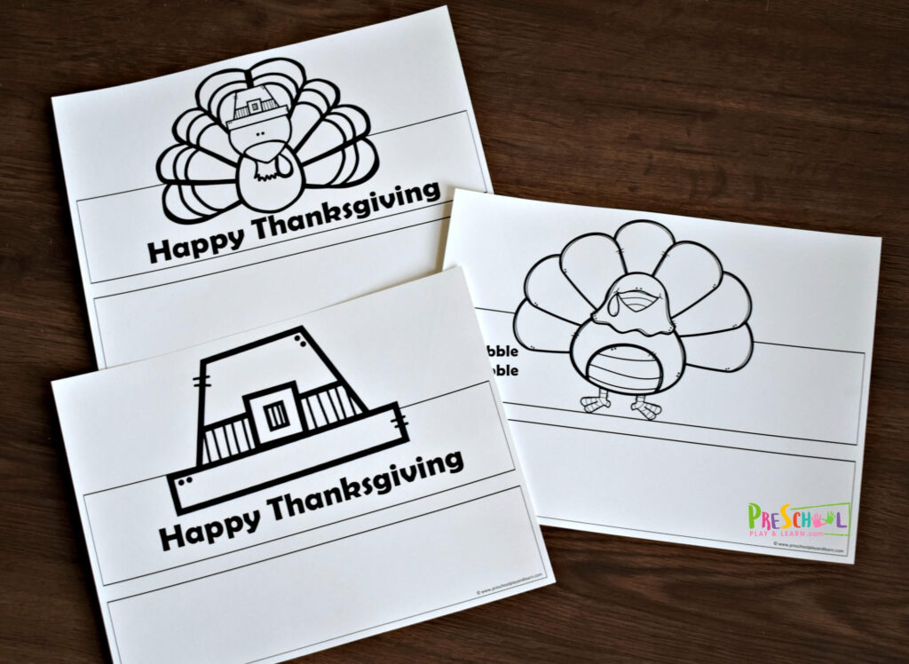 Super cute, FREE Printable Hats for Kids with a thanksgiving theme