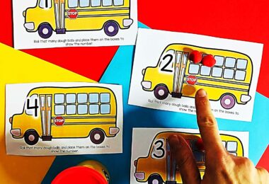 School Bus Activity for preschoolers, prek, and kindergartners