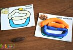 these printable playdough cards are a fun Thanksgiving Activities for Preschoolers