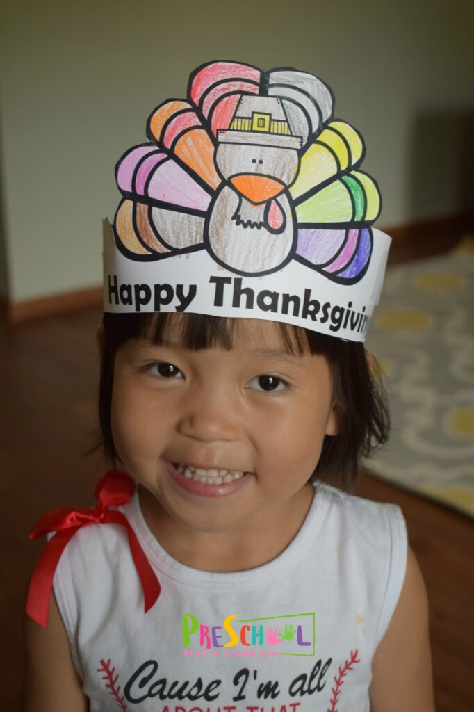 Super cute Thanksgiving Printables craft for kids