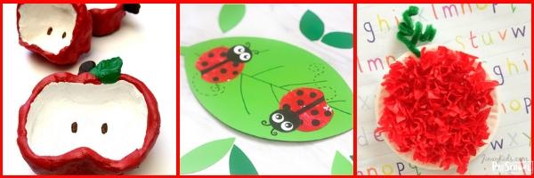 super cute apple crafts for preschool and prek kids