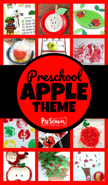 Take all the prep work out of planning a apple theme preschool in September with these fun, hands on, and clever apple activities. We have lots of apple math for preschoolers, pre k literacy, apple crafts, free apple printables, and more!