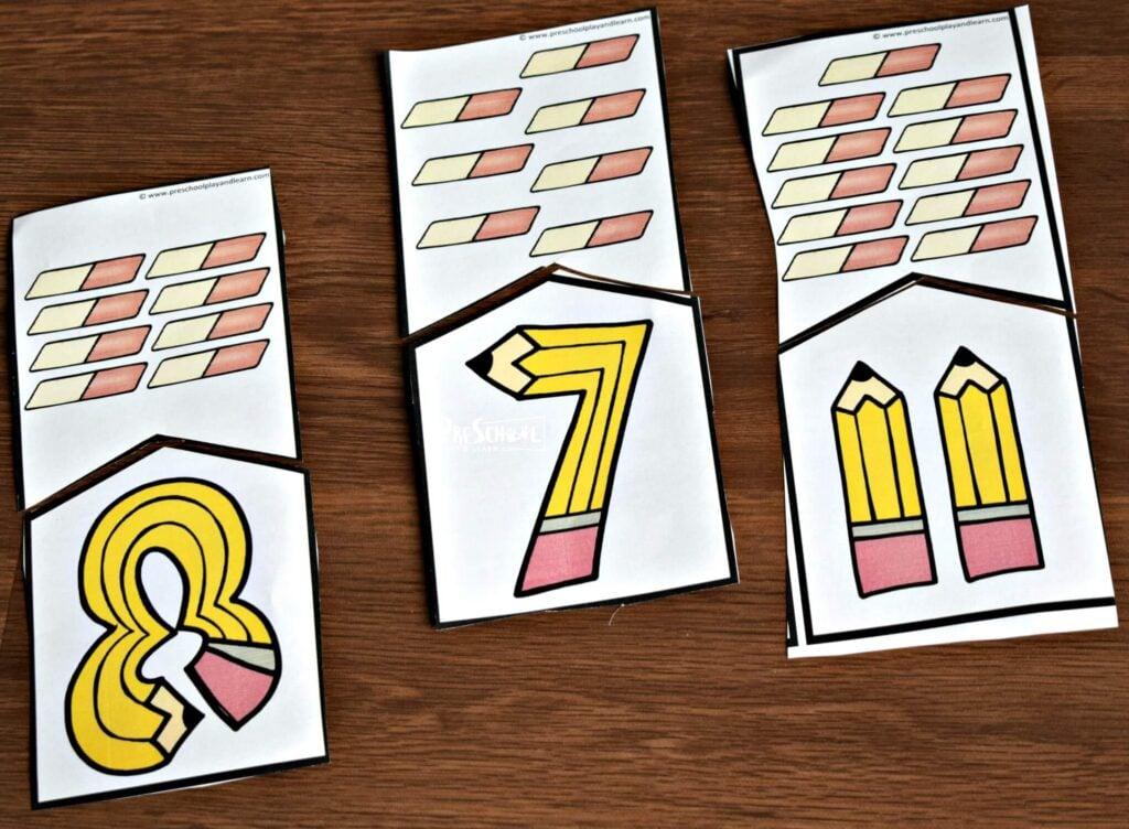 Fun back to school activity for preschool, prek, and kindergarten age kids to practice counting to 10
