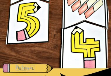 FREE Back to School Counting Puzzles are a fun way for preschool, prek, and kindergarten age kids to practice counting to 10 with a fun first day of school theme