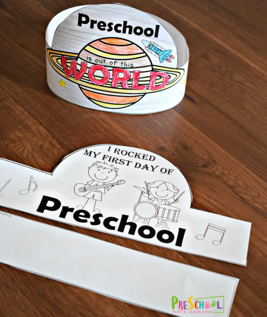 Super cute Back to School Printable hat for preschoolers