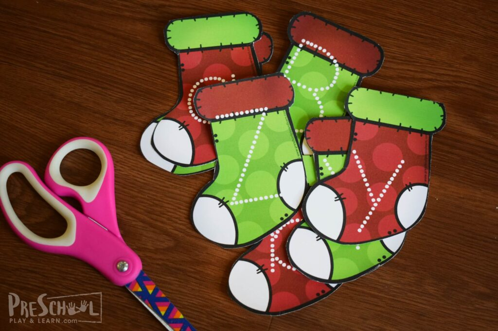 Christmas alphabet activity to trace and erase for preschoolers and kindergartners