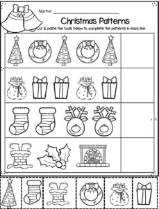 christmas-finish-the-pattern-worksheets