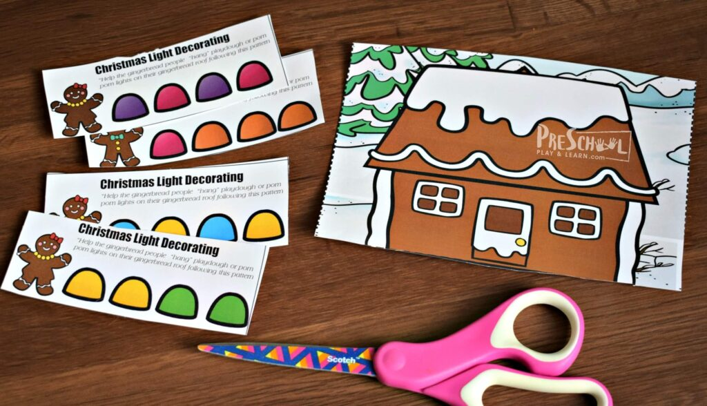 Fun, hands on Christmas Math activity for preschoolers and kindergartners in December