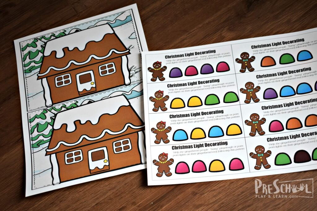 FREE Christmas Printables for preschool and kindergarten age kids