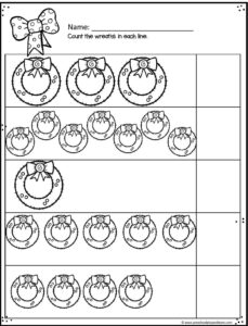 christmas-wreath-counting-worksheets
